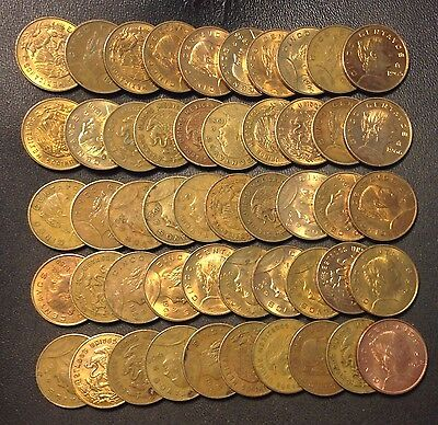Old Mexico Coin Lot - 5 Centavos - 1958-1969 - 50 Great Coins - Lot #A25