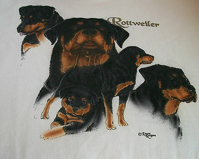 "Rottweiler T-shirt #2  "" Natural "" 2XL ( 50 - 52 )"