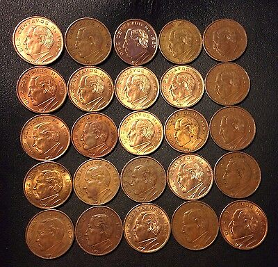 Old Mexico Coin Lot - 10 Centavos - 1957-1967- 25 High Grade Coins - Lot #A25