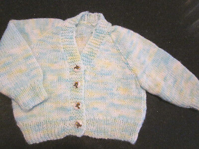 Hand Knitted Baby Matinee Cardigan Size 0000 New Without Tags