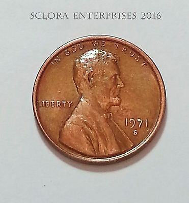1971 S Lincoln Memorial Cent / Penny  **FREE SHIPPING**