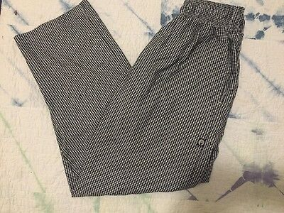 Chef Works Unisex Size M Checkered Pants