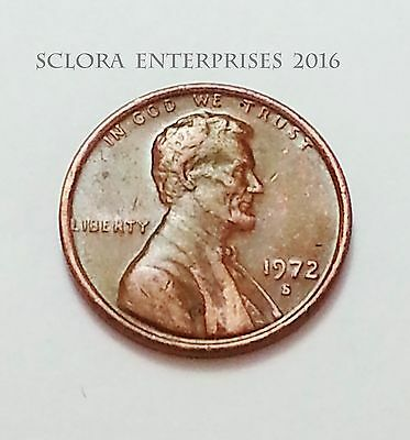 1972 S Lincoln Memorial Cent / Penny    **FREE SHIPPING**