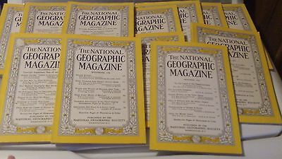 National Geographic Magazine 1955 complete year - all 12 issues! Great condition