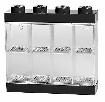 Lego Toy Storage Display Case Black Stores 8 Mini Figures Minifigures New