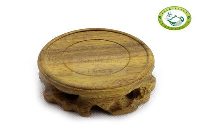 Natural wood root stand/base carving for display teapot Round