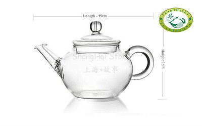 Glass Teapot Heat Resistant For Chinese tea 250ml/8.5oz