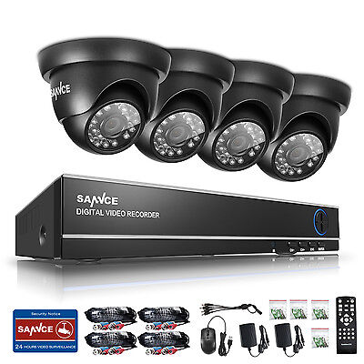 SANNCE HD 1080N 8 Channel DVR 1500TVL Outdoor Security Camera System P2P Remote