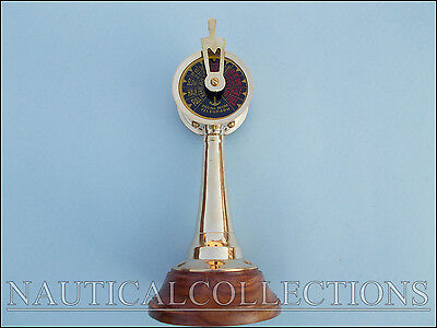 Nautical Gift Decor Brass Antique Wooden Stand Office Desk Engine Room Telegraph