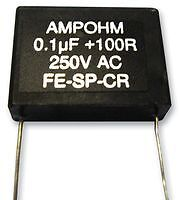 Contact Suppressor, 0.1Uf, 100R Fe-Sp-Cr23-100/100 Ft00711 Ampohm Wound Products