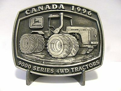 John Deere 9400 9000 Series 4WD Tractor Belt Buckle CANADA 1996 Limited Edition