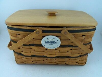 Longaberger 1997 Large Market Basket w Protector Lid TO