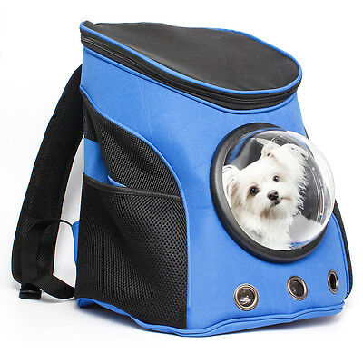 Pet Dog Cat Backpack Mesh Panel Capsule Bags Carrier Airline Travel Approved Bag