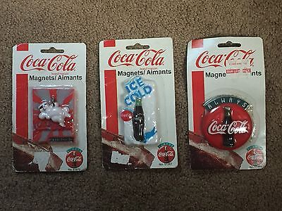 Vintage Coca Cola Magnet Set of Three New In Package Lot Of 3