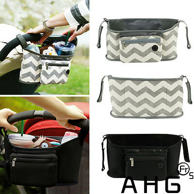 Changing Baby Pram Stroller Buggy Storage Bag Organizer Bottle Cup Pouch Holder