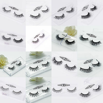 Soft Design 3D 100% Real Mink False Eyelashes Cross Messy Eye Lashes