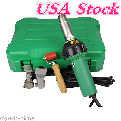 US STOCK !!1600W Easy Grip HandHeld Plastic Hot Air Welding Gun PVC Flex Banner