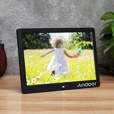 """Andoer 13"""" HD Digital Photo Frame Picture Movie MP3/4 Player Remote Control B6C1"""