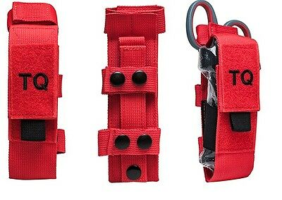 CAT/SOFT-T Tourniquet, Trauma Shear and holders  Color RED with Black pull Tab