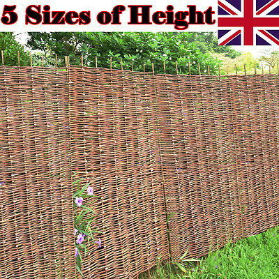 Wooden Garden Roll Screening Fence Willow Fencing Panels 6ft x 4ft 4.6ft 5ft 6ft