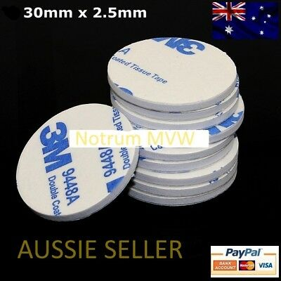 10pcs 3M White Round Double Sided Foam Mounting Pads Adhesive Tape 30mm x 2.5mm