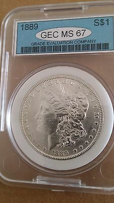 1889 United States Morgan $1 One Dollar Silver Coin GEC MS67