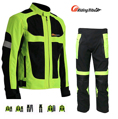 NEW Men's Mesh Air Vent Technology Summer winter Motorcycle Armored Jacket Pants