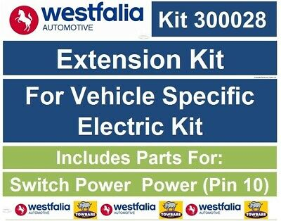 Westfalia 320028 Extension Charging kit for Vehicle Specific Dedicated 13 Pin