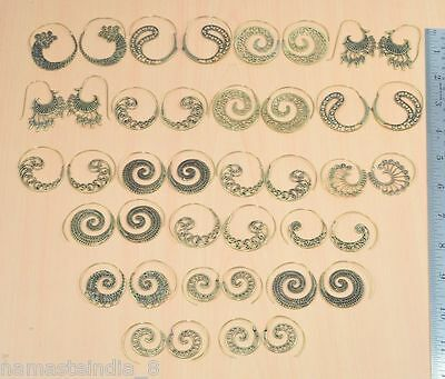 Fine Solid Brass Wholesale 50 Pair Lot Plain Designer Long Earring Jewelry