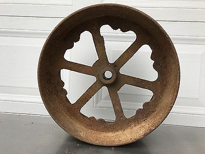 Vintage INDUSTRIAL  Rustic Metal Farm Wheel Garden Wall Art Steampunk 38 Pounds
