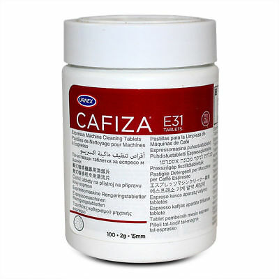 Urnex CAFIZA® E31 Espresso Machine Cleaning Tablets approved by Jura UK 100 Tabs