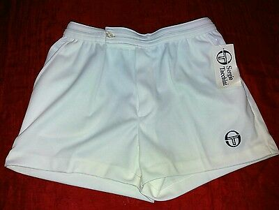 Vintage SERGIO TACCHINI TENNIS SHORTS TG.50 SHORT TAYLOR NEW WHITE Made in italy