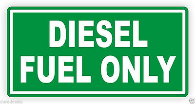 3pc-Diesel Only Vinyl Decal / Sticker/Label Fuel Door Label Turbo Weatherproof