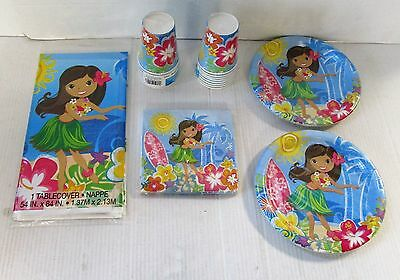 Hula Beach Party Tableware and Complete Party Pack - Choose you items