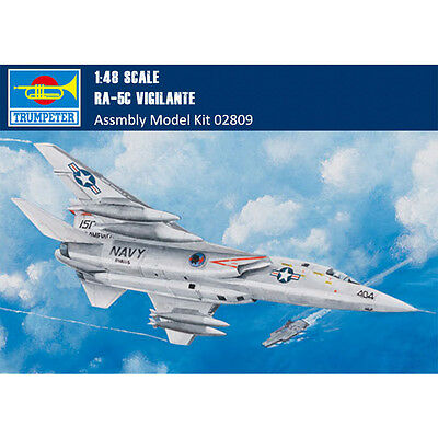 Trumpeter 02809 1/48 Scale RA-5C Vigilante Fighter Assembly Aircraft Model Kits
