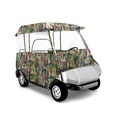 "Pyle PCVGCE33 Armor Shield Deluxe 4 Sided Golf Cart Enclosure 2 Passenger 66"" L"