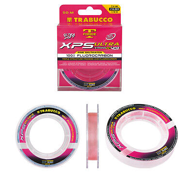 Mono Filo Pesca Fluorocarbon 100% Trabucco XPS Ultra Special SW Pink FEU