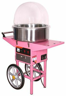 Cotton Candy Floss Maker Machine/Cover With Cart , next working day delivery NEW