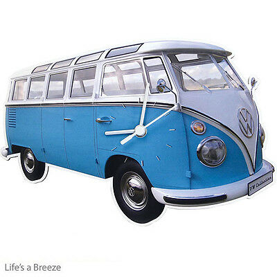 VW Wall clock Classic Blue. Offical Licensed  Product .T1 Bus Camper Van Classic