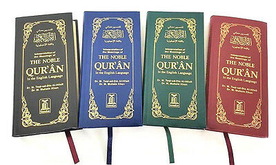 The Noble Quran in the English Language - (Deluxe - Long Size - Colour Choice)