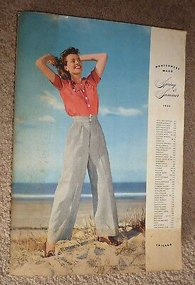 Vintage 1941 Montgomery Ward Spring and Summer Department Store Catalog Chicago