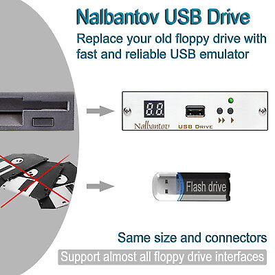 Nalbantov USB Floppy Disk Drive Emulator for Tajima TMFX 34pin floppy connector