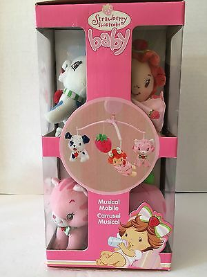 Rare New Strawberry Shortcake Nursery For Baby Crib Musical Mobile Hard To Find