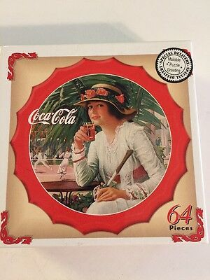 Coca Cola Bottle Cap Shaped Mini Jigsaw Puzzle 64 Pieces Mailable Greeting NEW