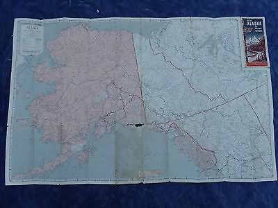 Vintage Road Map 1961-62 Aaa Alaska And Western Canada Quaker State Oil-Autolite