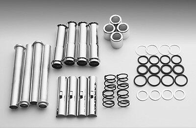 Chrome Pushrod Cover Kit Harley Evolution 84-99 Tubes Washers Covers Clips