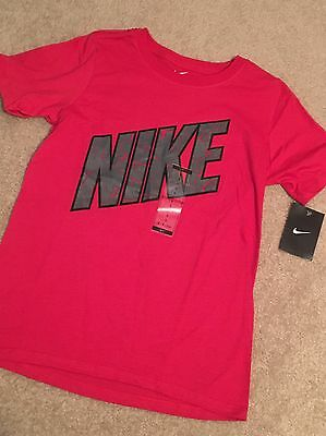 NWT Boys Nike Red Tee Shirt Top Size S Small