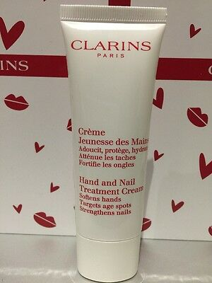 New Clarins Hand and Nail Treatment Cream 50ml - Softens Hands Targets Age Spots