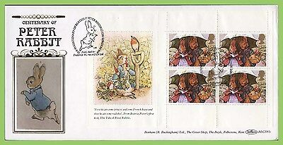 G.B. 1993 Beatrix Potter booklet pane Benham First Day Cover, London W8