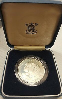 1981 Silver Princess Diana and Prince of Wales Wedding Commemorative Crown Coin